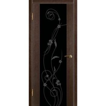 """Стиль 1 стекло """"Орхидея"""" черный триплекс(цвет:венге)"""