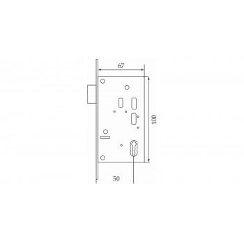 Замок-ключ для раздвижных дверей ONYX